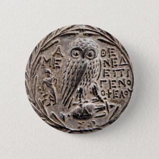Athen silbernes Tetradrachm Runder Button 5,1 Cm