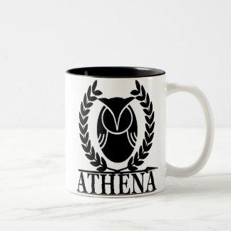 Athene - Göttin von Klugheit Zweifarbige Tasse
