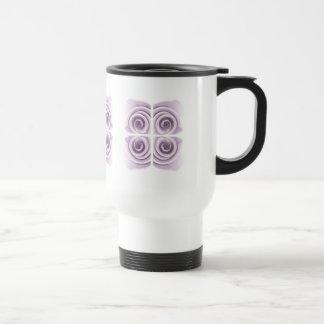 Ätherische lila Rosen-abstrakter Wirbel Reisebecher