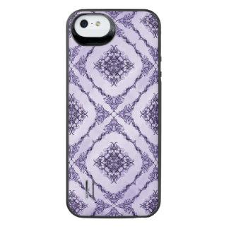 Ätherisches Lila und Lavendel-Fraktal Design iPhone SE/5/5s Batterie Hülle