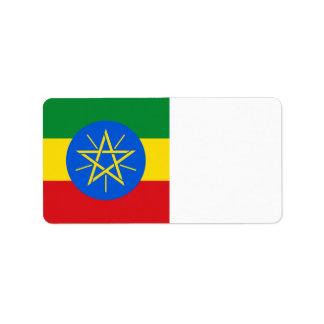 Äthiopien-Flagge Adressaufkleber