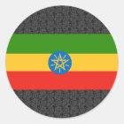 Äthiopien-Flagge Runder Aufkleber