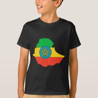 Äthiopien-Flaggenkarte T-Shirt