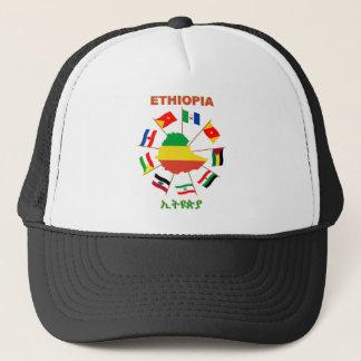 Äthiopien kennzeichnet Pinwheel mit Flaggen-Karte Truckerkappe