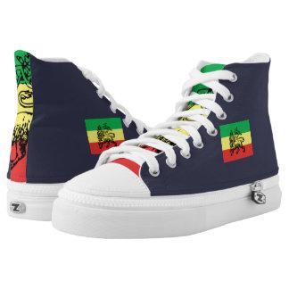 Äthiopien-Löwe-Turnschuhe Hoch-geschnittene Sneaker