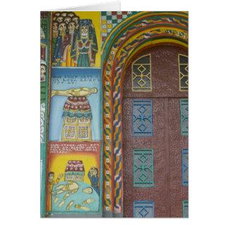 Äthiopien:  Tigray Region, Axum, Christus-Kirche, Grußkarte