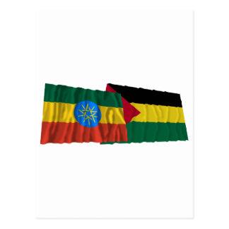 Äthiopien und Benishangul-Gumaz wellenartig Postkarte