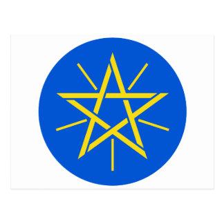 Äthiopien-Wappen Postkarte