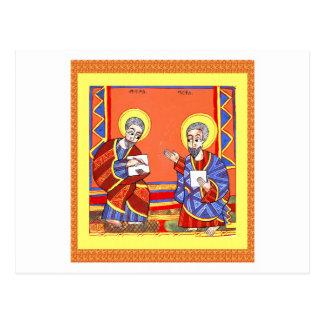 Äthiopisch-Bibel-Heilig-Luke-Heilig-John Postkarte