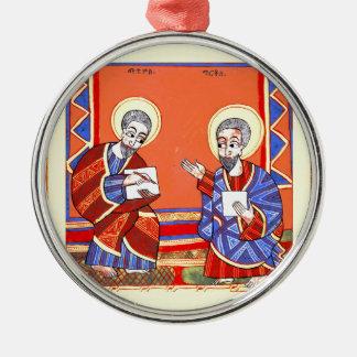 Äthiopisch-Bibel-Heilig-Luke-Heilig-John Silbernes Ornament