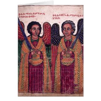 Äthiopische Erzengel Michael und Karte