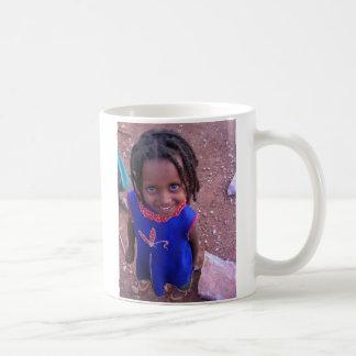 Äthiopische Mädchen-Karte Kaffeetasse