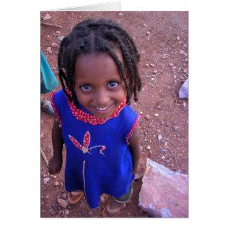 Äthiopische Mädchen-Karte Karte