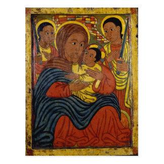 Äthiopisches schwarzes Madonna mit Christus-Kind Postkarte