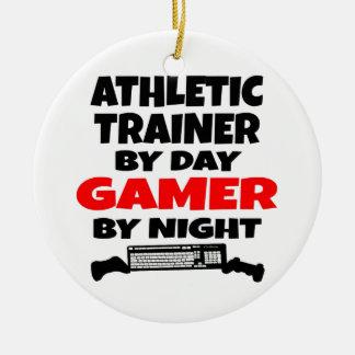 Athletischer TrainerGamer Rundes Keramik Ornament