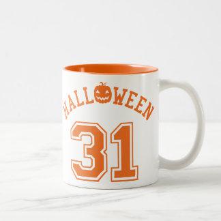 Athletisches Halloween 31 Zweifarbige Tasse