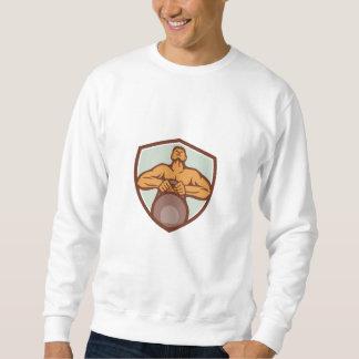 AthletWeightlifter, der Kettlebell Wappen Retr Sweatshirt
