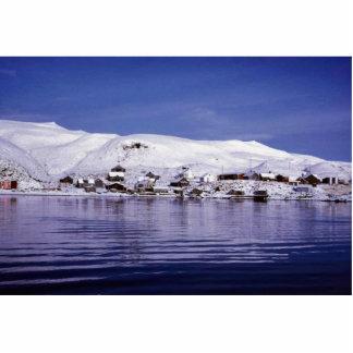 Atka Dorf im Winter Freistehende Fotoskulptur