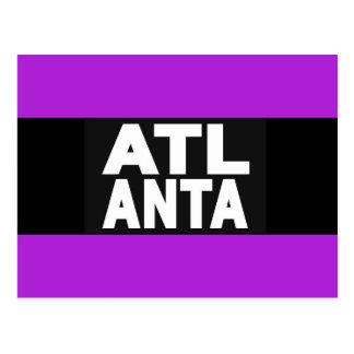 Atlanta 2 lila postkarte