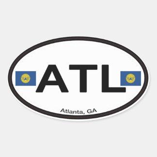 Atlanta ATL Euro-Oval Ovaler Aufkleber