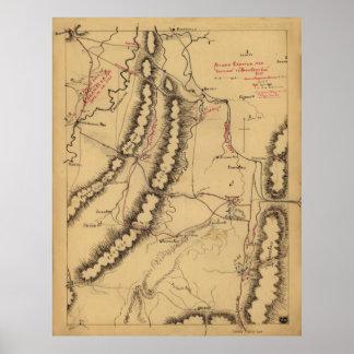 Atlanta campaign-1864. Rossville, zum sich des Poster