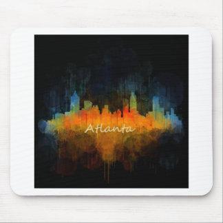 Atlanta City Watercolor Skyline v4 Dark Mousepad