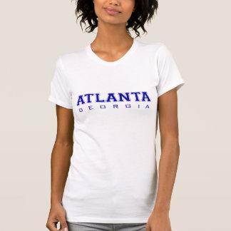 Atlanta, GA - blaue Buchstaben T-Shirt