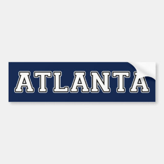 Atlanta Georgia Autoaufkleber