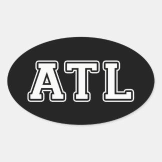 Atlanta Georgia Ovaler Aufkleber