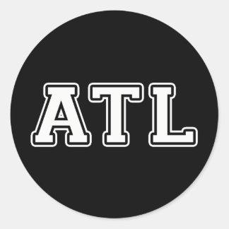 Atlanta Georgia Runder Aufkleber