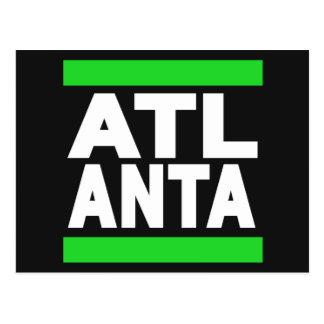 Atlanta-Grün Postkarte