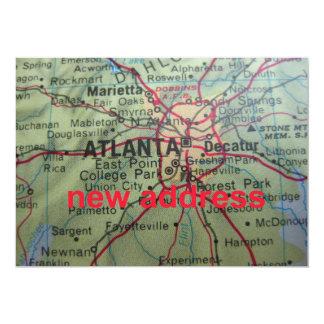 Atlanta haben wir neue Adressen-Mitteilung bewegt 12,7 X 17,8 Cm Einladungskarte