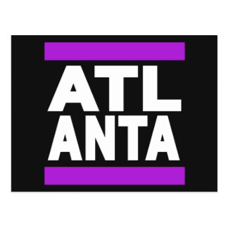 Atlanta lila postkarte