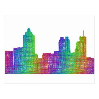 Atlanta-Skyline Postkarte