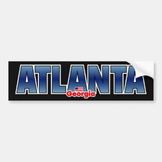 Atlanta-Stoßdämpfer Autoaufkleber