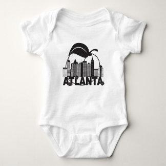 Atlantaskyline-Pfirsich-Hartriegel-Schwarz-weißer Baby Strampler