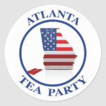 AtlantaTeaParty6 Runder Sticker