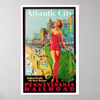 Atlantic City ~ Amerikas das ganze Jahr Spielplatz Poster