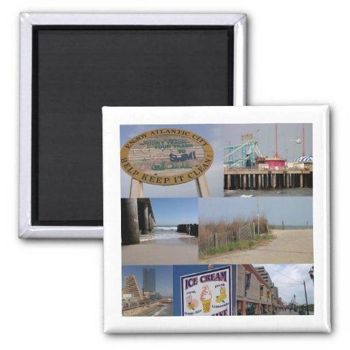 Atlantic City Foto-Collagen-Magnet Kühlschrankmagnete