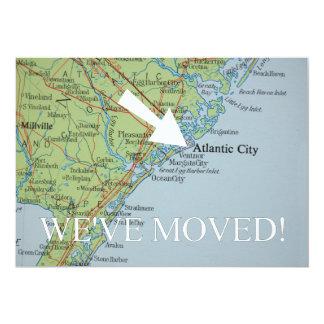 Atlantic City haben wir neue Adressen-Mitteilung 12,7 X 17,8 Cm Einladungskarte