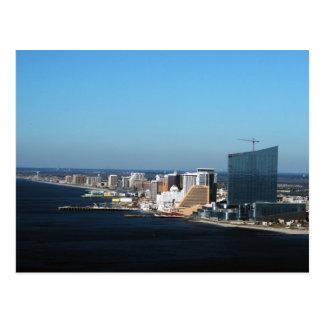 Atlantic City Skyline Postkarte