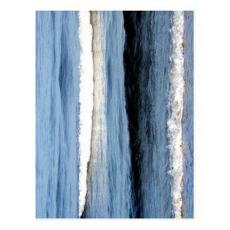 """Atlantik bewegt "" wellenartig Postkarte"