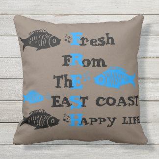 Atlantik-Küstenfrisches Ostküste glückliches Kissen