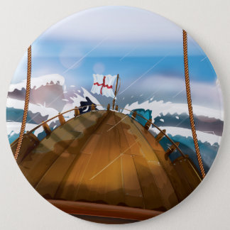 Atlantik-Sturm-Schiff Runder Button 15,3 Cm