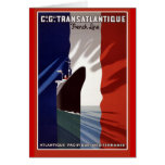 Atlantique französische Kreuzfahrt-Linie Retro Pla Karte