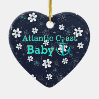 """Atlantische Küstenbaby """""""" Leuchtturmverzierung """" Keramik Ornament"""