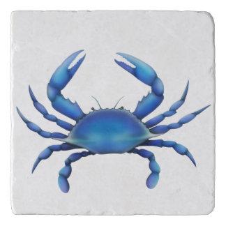 Atlantischer blaue Krabben-Stein Trivet Töpfeuntersetzer