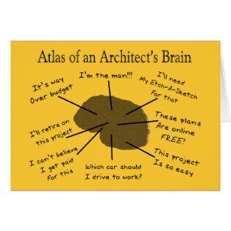Atlas des Gehirns eines Architekten Grußkarte