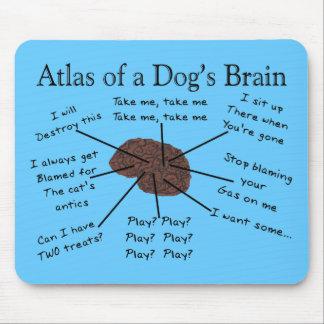 Atlas des Gehirns eines Hundes Mauspad