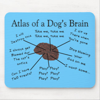 Atlas des Gehirns eines Hundes Mousepad
